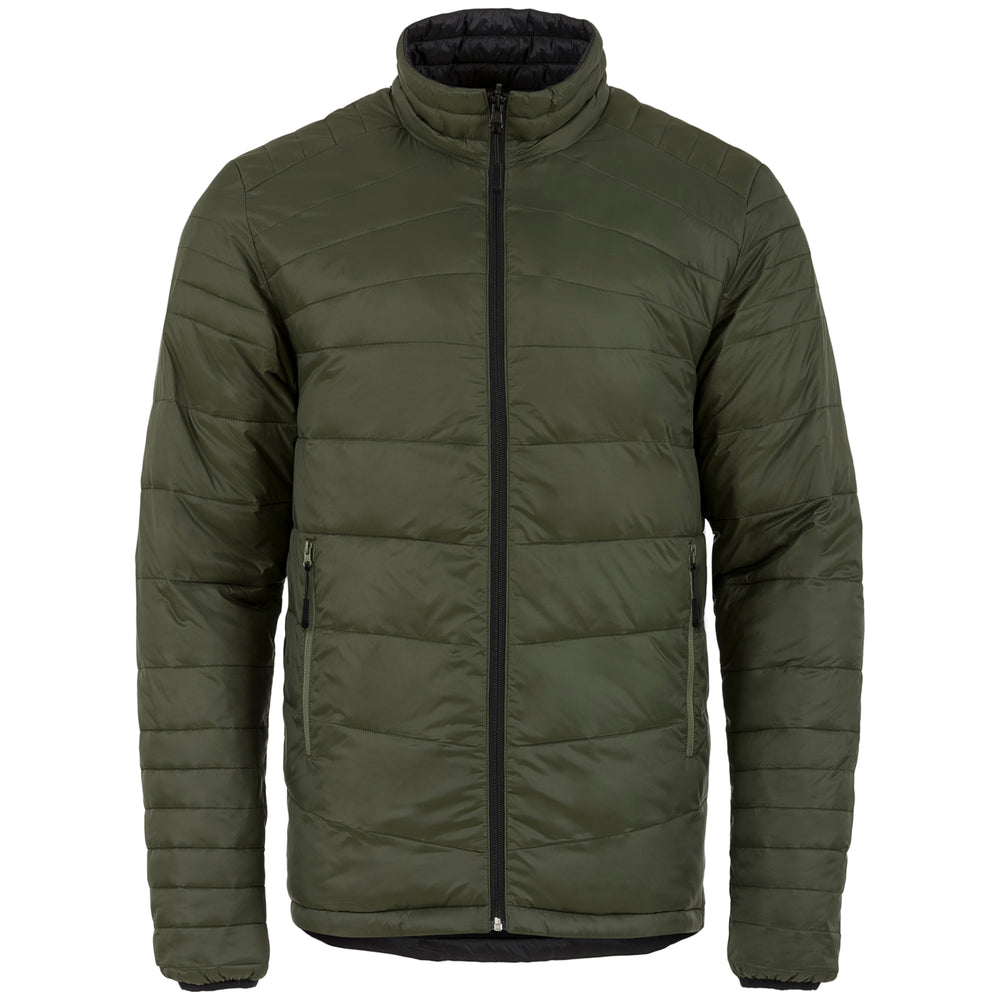 Reversible Mens Down Jacket Black and Olive