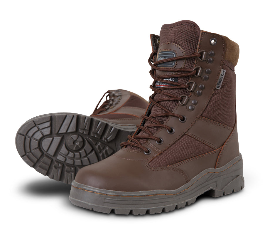 Patrol Boot Half Leather/Half Nylon MOD Brown