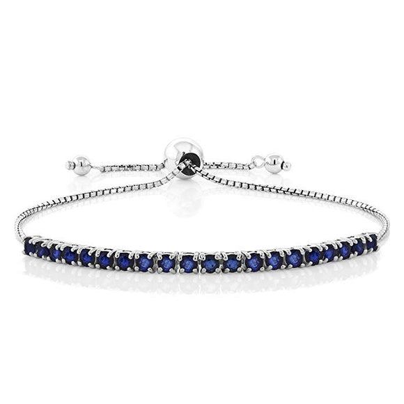 Swarovski Crystals 7.00 CT Diamond Created Adjustable  Bracelet - www-mallwala-com