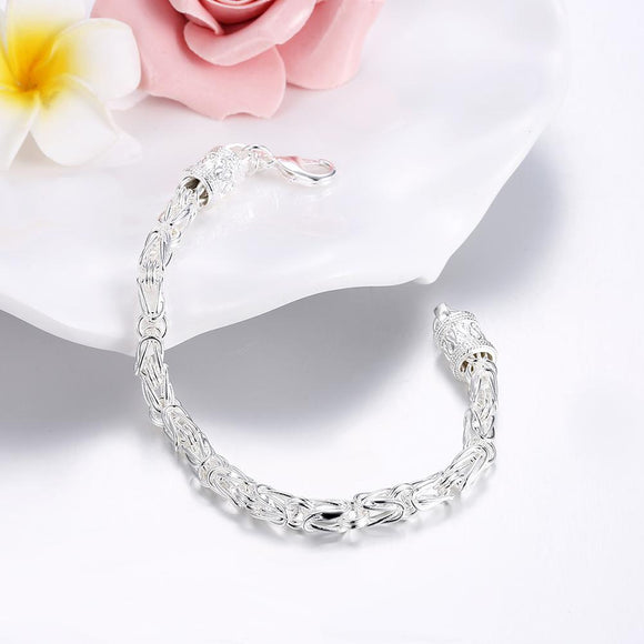 Byzantine Bracelet in 18K White Gold Plated 7.5