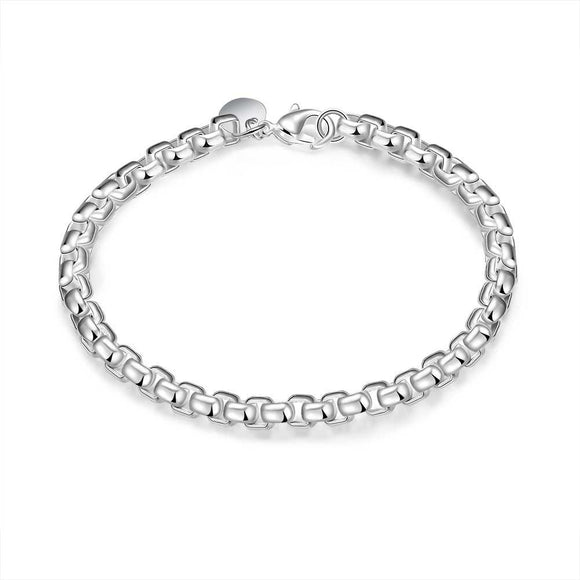 Silver Intertwined Box Bracelet - www-mallwala-com
