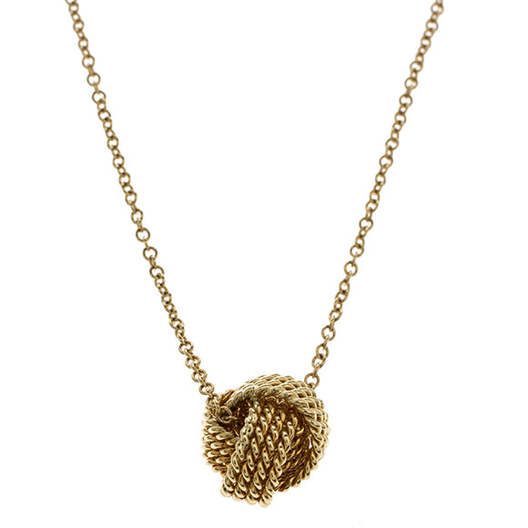 Mesh knotted Ball Drop  Necklace - www-mallwala-com