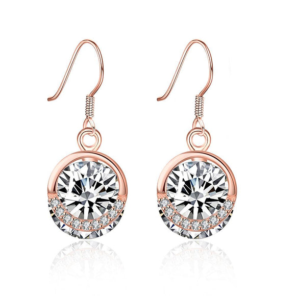 Sterling Silver Solitaire Swarovski Drop Earrings - www-mallwala-com