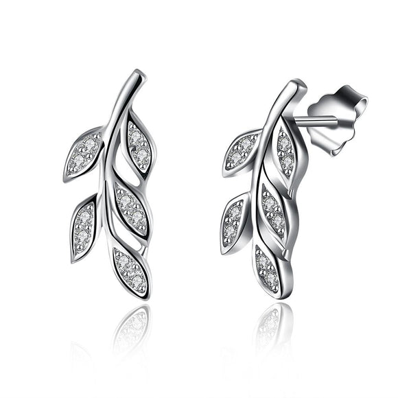Sterling Silver Swarovski Grapevine Stud Earrings - www-mallwala-com