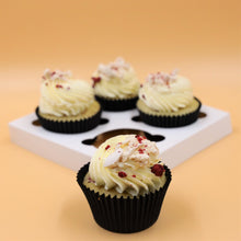 Load image into Gallery viewer, White Choc and Raspberry Bliss Cupcake