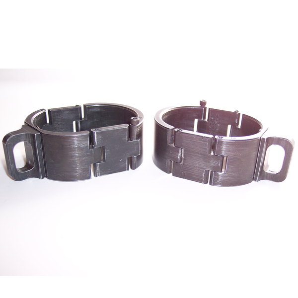 Brushed Black Aluminum Slave Cuffs, image 3