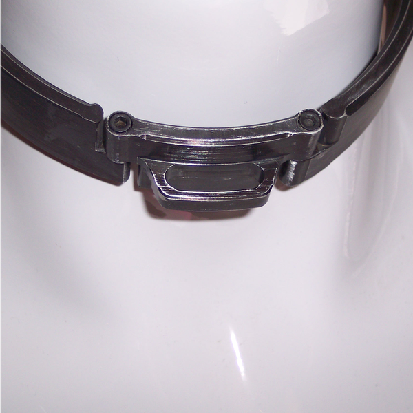 Brushed Black Aluminum Slave collar