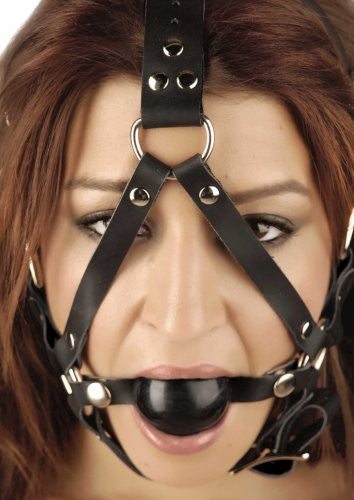 Ball Gag Head Harness, image 1