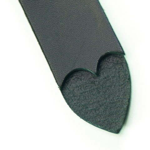 Black Leather Heart Shaped Slapper by Leatherbeaten, image 1
