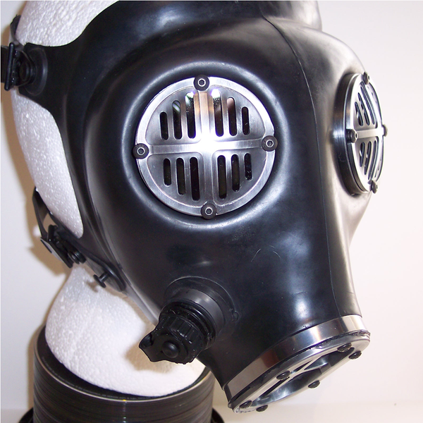 Apocalypse Fetish Gas Mask (Type 1-c/w clear and red lenses)
