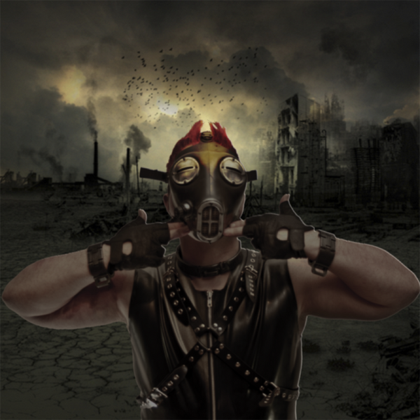 Apocalypse Fetish Gas Mask (Type 4-c/w smoke and red lenses)