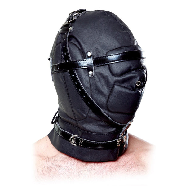 Faux leather sensory deprivation hood