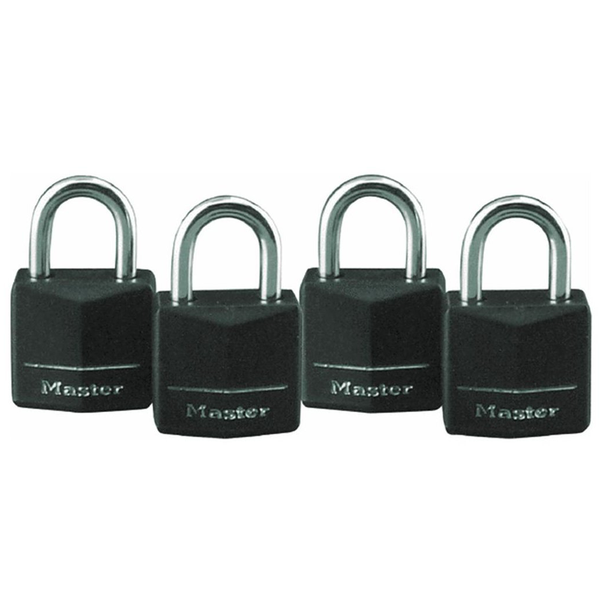 Pack of 4 Solid Body Padlocks