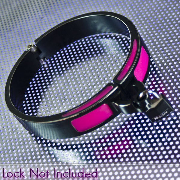 Sissy Pink Cyber Slave Collar
