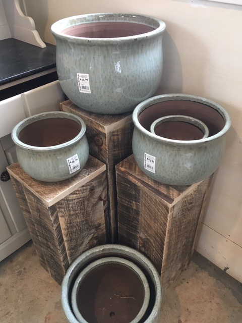 Fog Grey Clay Pots