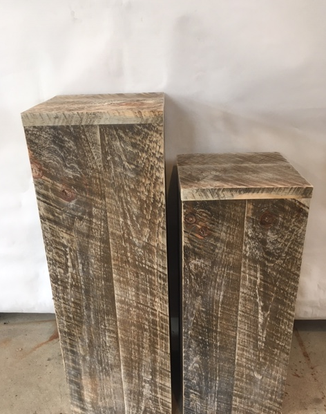 Rustic Pedestals- Set of 2