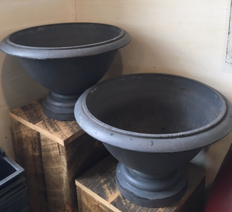 Squat Grey Planter