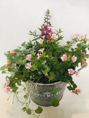 Galvanized Flower Market Planter