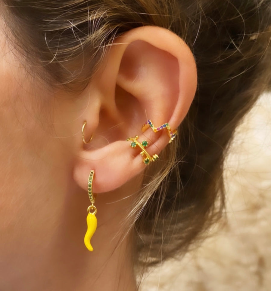 Ear Cuff Zig Zag multicolor
