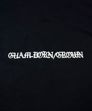 Load image into Gallery viewer, GACHA Guam-Born/Grown Tshirt (Black)