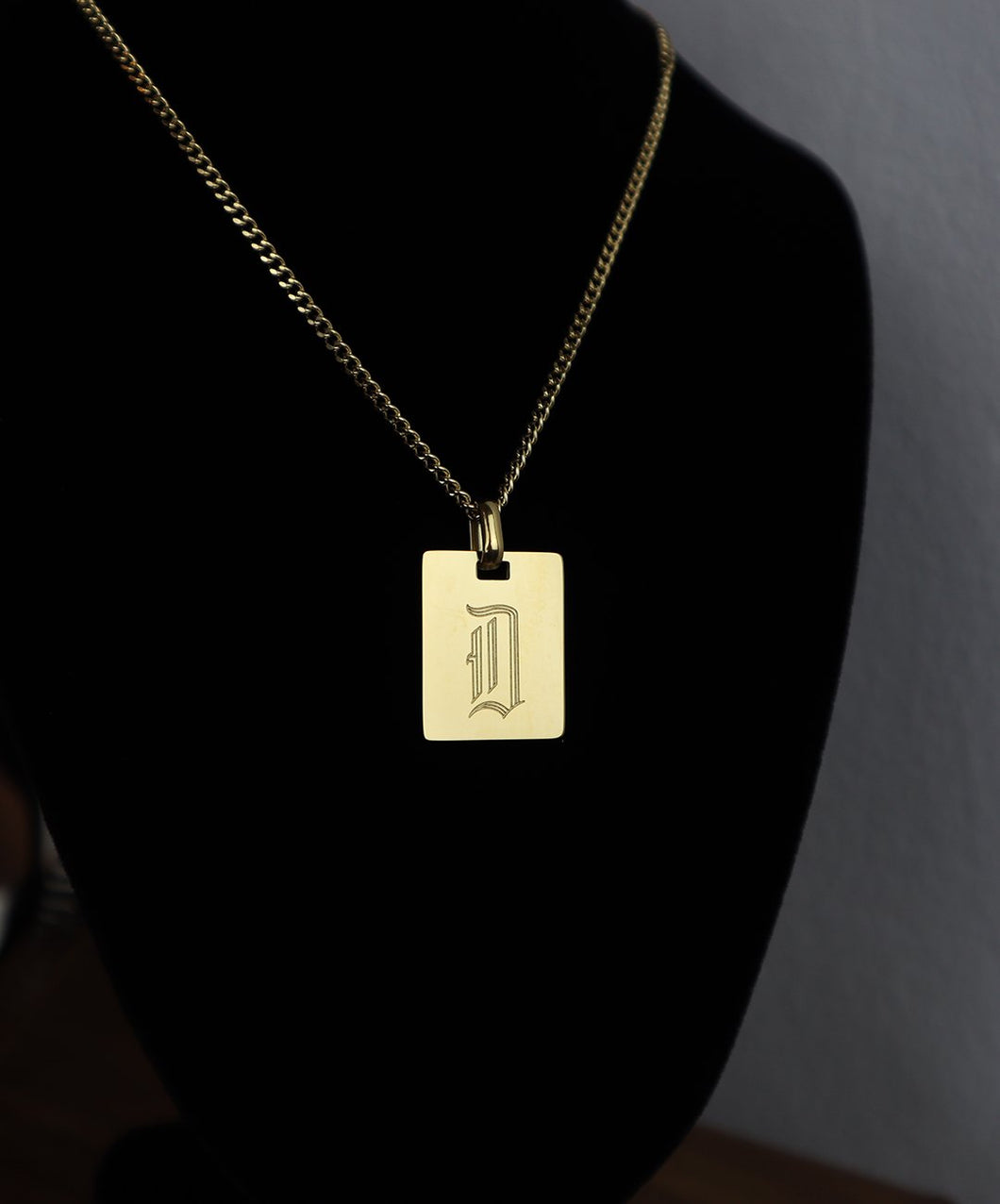 18k Gold Plate Necklace: D