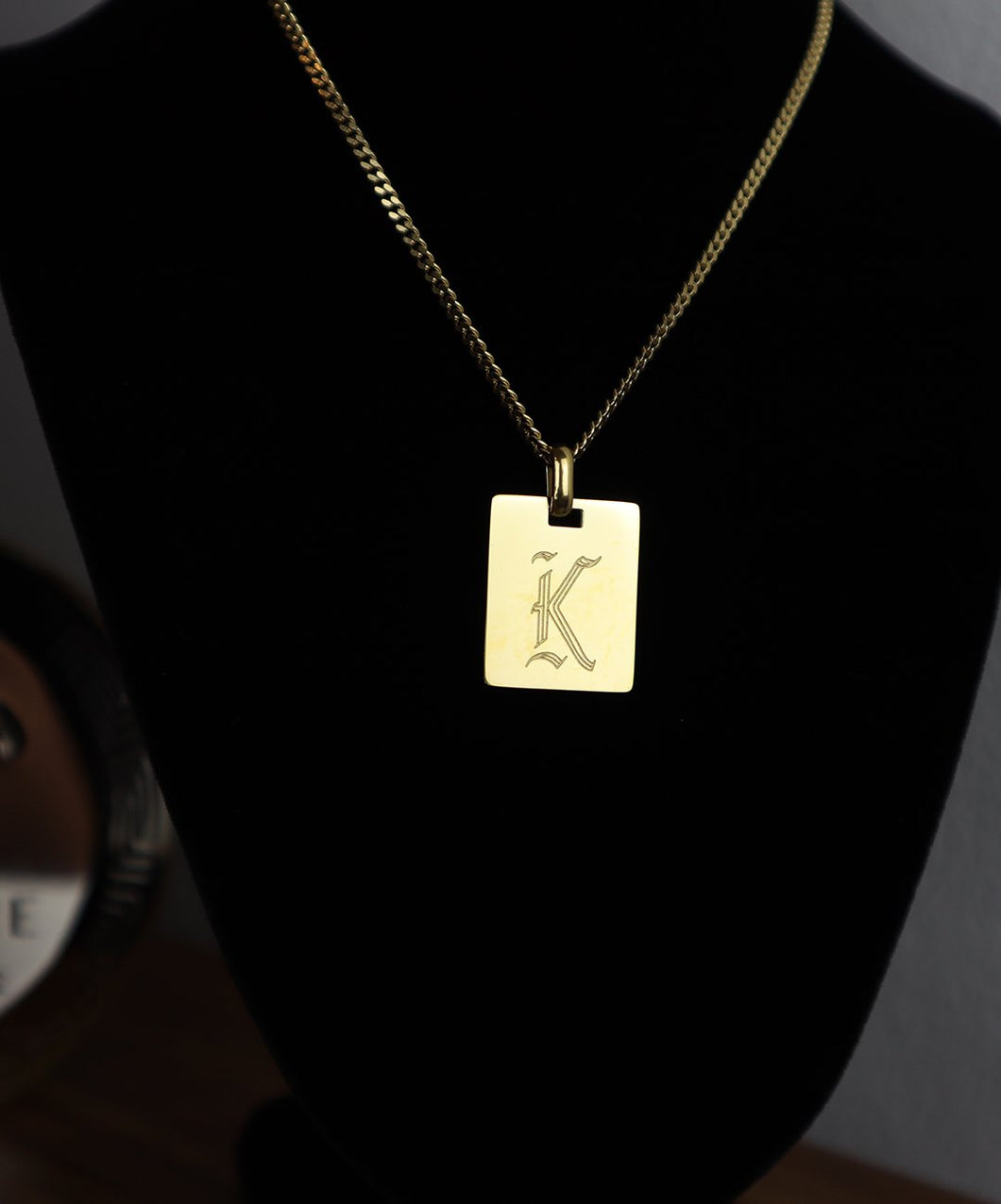 18k Gold Plate Necklace: K