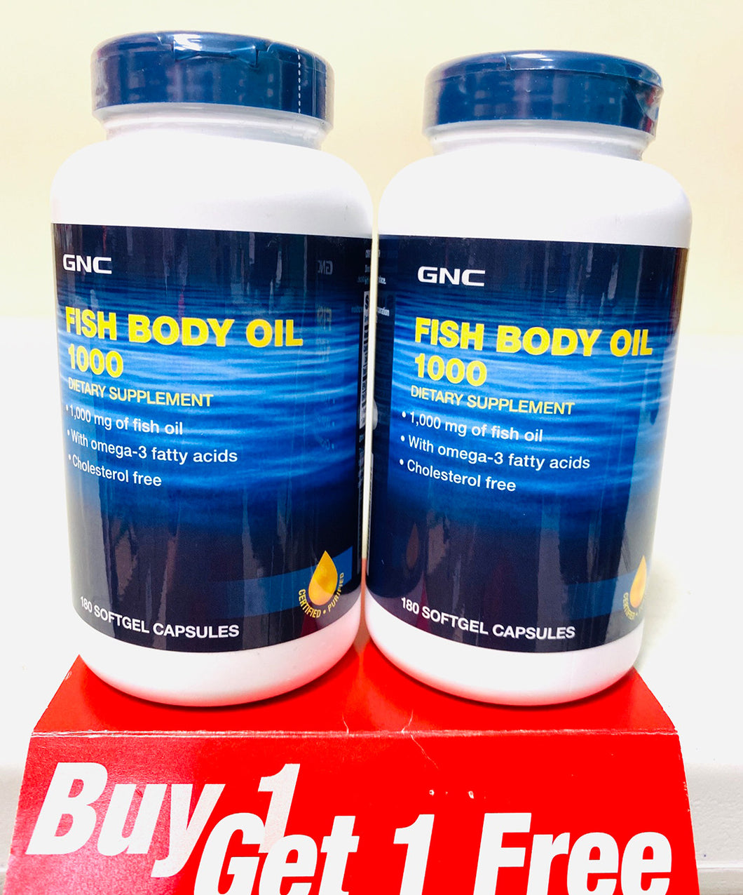 GNC Fish Body Oils 1000 MG BOGO Free
