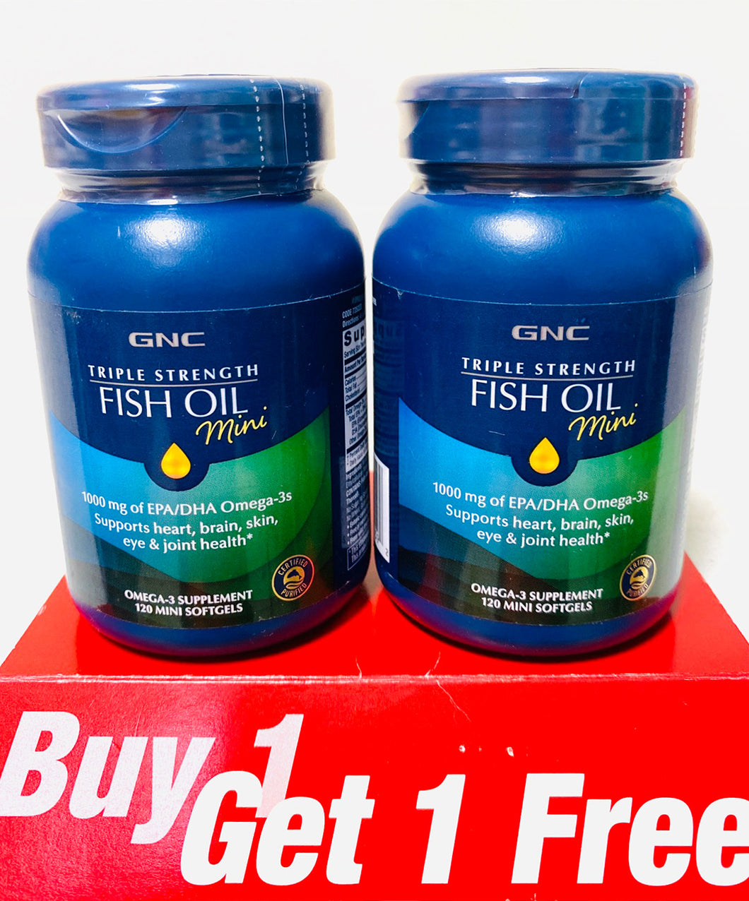 GNC Triple Strength Fish Oil (Mini) BOGO Free