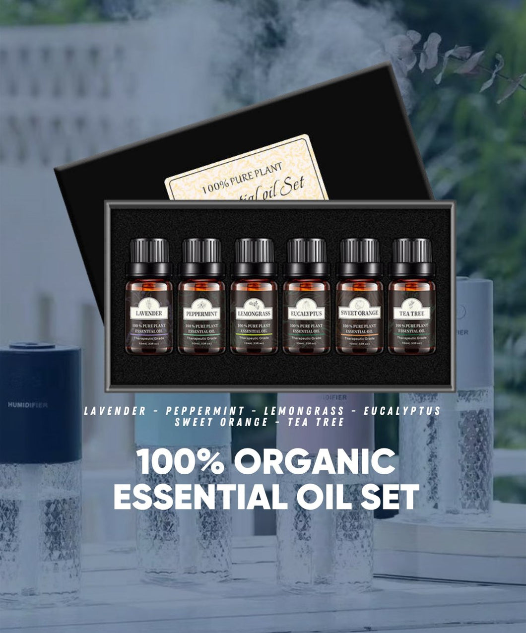 100% Pure Plant Essential Oil (6 pack)