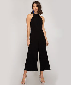 Halter Cropped Jumpsuit