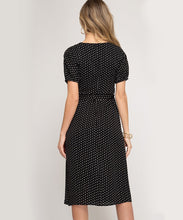 Load image into Gallery viewer, Dotted Side Slit Midi Dress