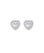 Load image into Gallery viewer, Jules Guam Heart Stud Earrings