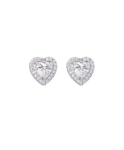 Jules Guam Heart Stud Earrings
