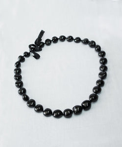 Kukui Nut Lei Necklace (Black or Brown)