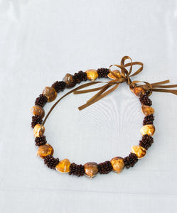 Tangantangan Seeds with Mini Clam Shell Lei Necklace
