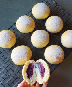 Soft Butter Bread with Ube Filling