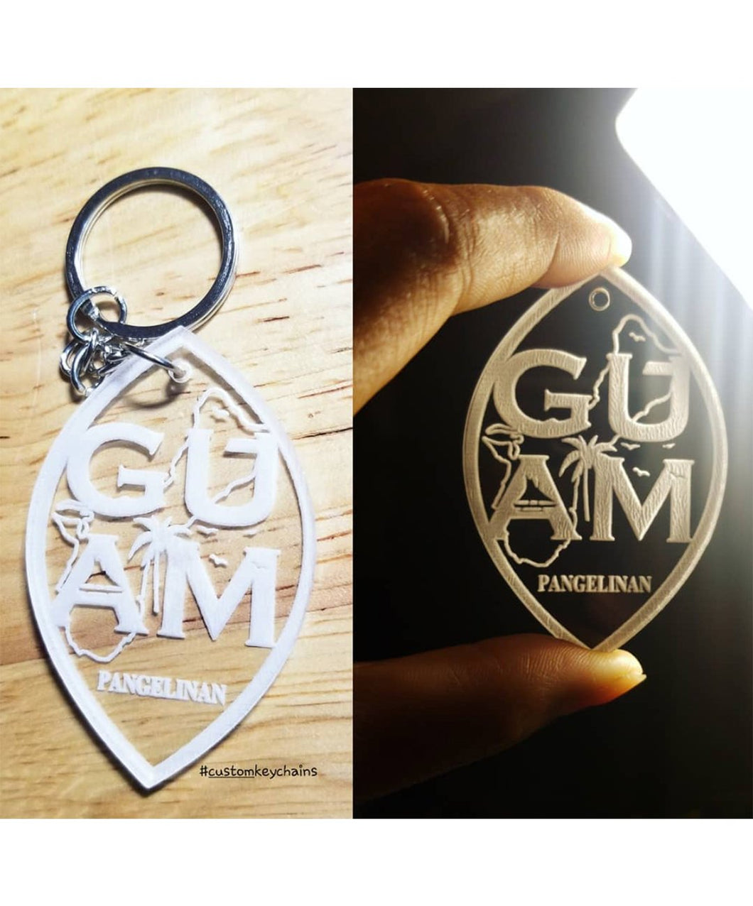 Custom Guam Key Chains