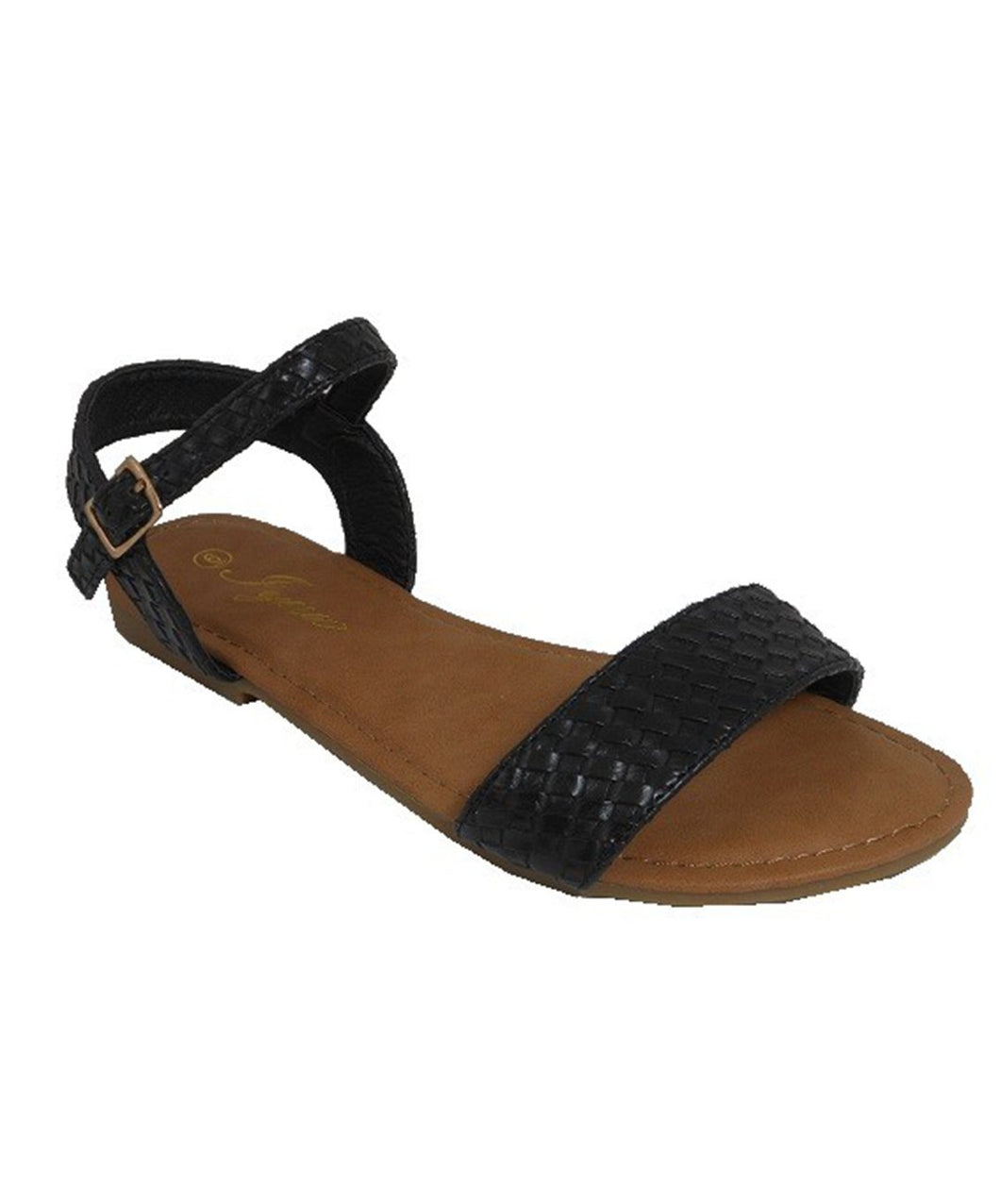Sandals with Weave Design