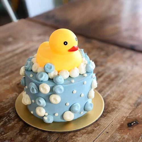 4-inch Rubber Ducky Smash Cake