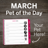 MARCH Pet of the Day – PAWS Chicago Desktop Calendar 2021