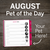 AUGUST Pet of the Day – PAWS Chicago Desktop Calendar 2021