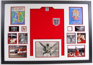 1966 England Signed Frame. Original Programmes, Signatures, and Replica shirt! Stunning