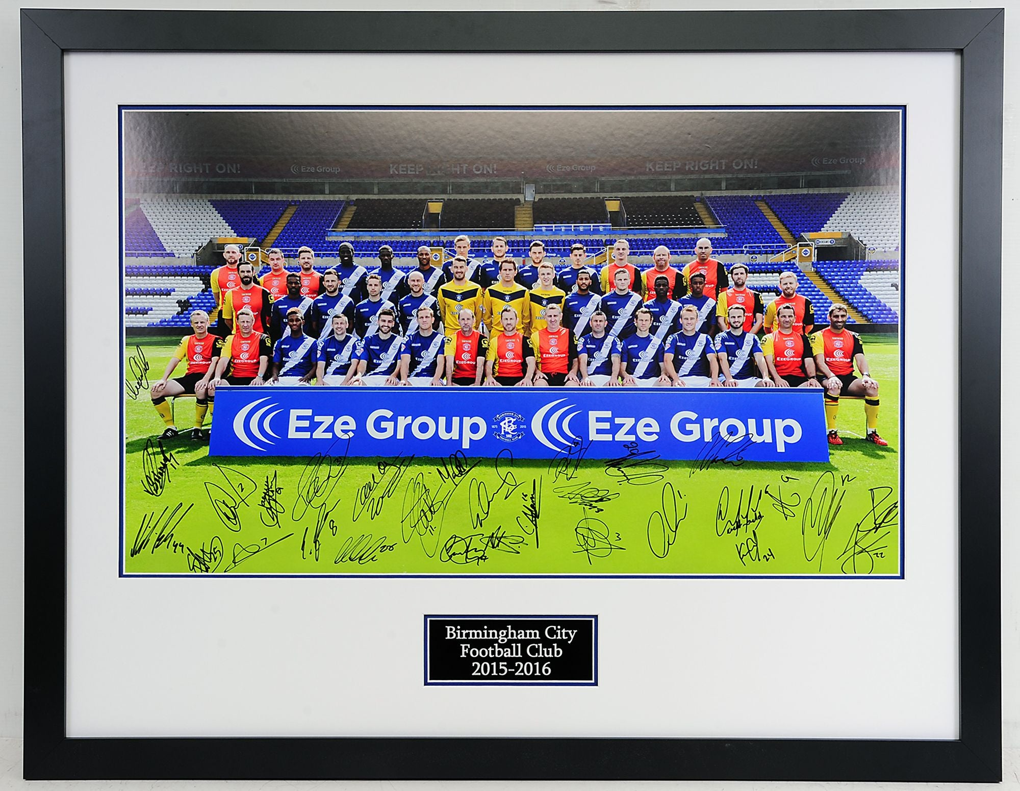 Large Birmingham City Signed Team Photo 2015-2016 - Superb