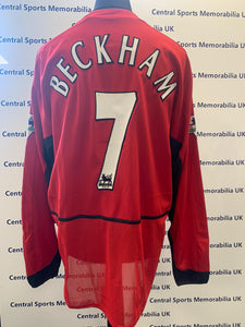 David Beckham Match Worn Shirt vs Birmingham at St. Andrews 04/02/03