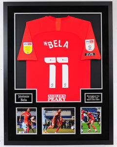Jeremie Bela Framed Match Issue Shirt - Buy before Monday for Pre Xmas delivery.