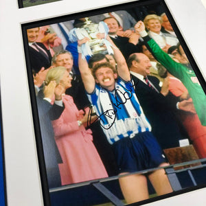 Coventry City 1987 FA Cup Celebration signed Frame by Brian Kilcline with COA