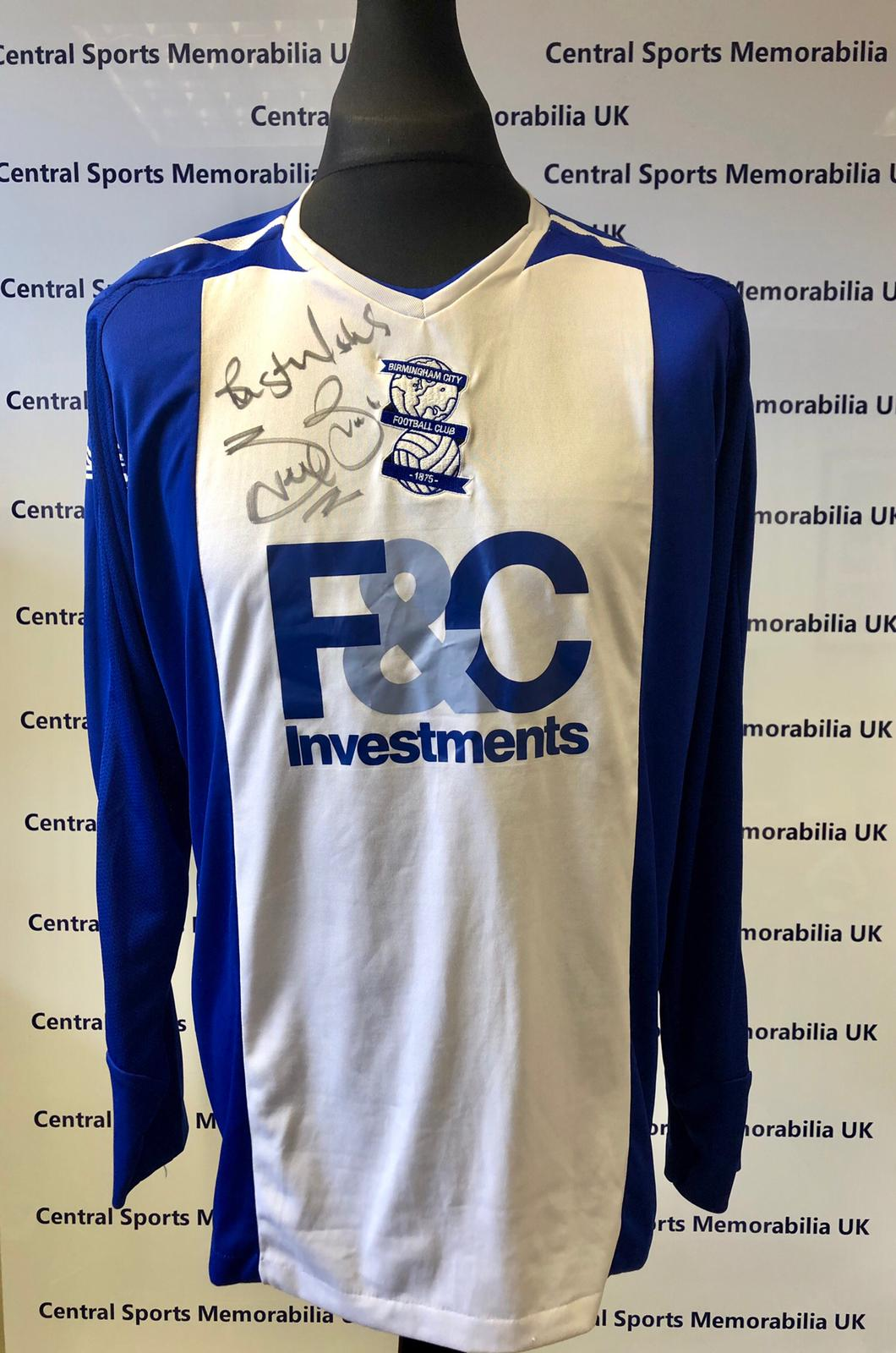 Birmingham City 2007/08 Home Shirt Signed By Steve Bruce