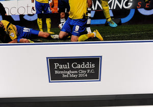 Paul Caddis Birmingham City Signed Frame