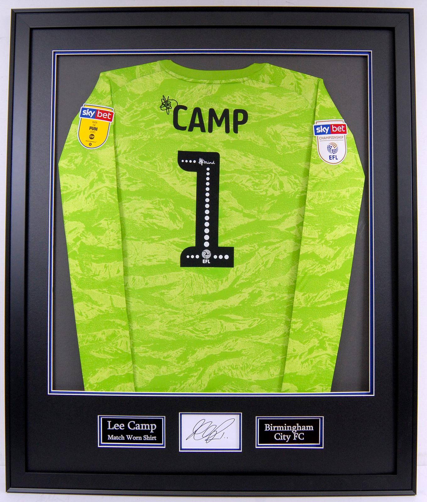 Lee Camp Birmingham City Match Worn Shirt with Signature