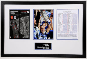 Stephen Carr Signed Frame with Clive Tyldsley Pre Match Notes